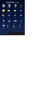 Weather Icon Set Clip Art
