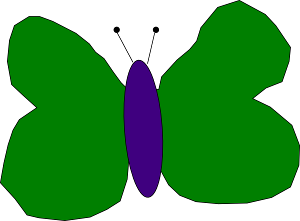 Green And Purple Butterfly Clip Art at Clker.com - vector ...