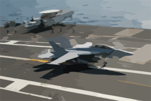 An F/a-18f Super Hornet Catches The Number Three Arresting Wire Becoming The First Super Hornet To Land Aboard Uss Kitty Hawk (cv 63). Clip Art