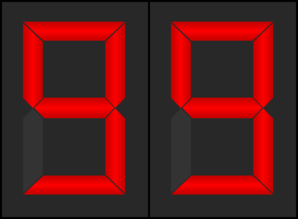 Timer Display 99 Clip Art