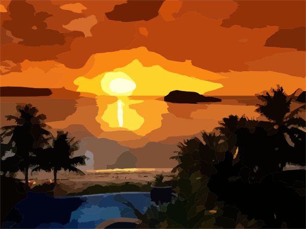 Beautiful Sunrise clip art - vector clip art online, royalty free & public