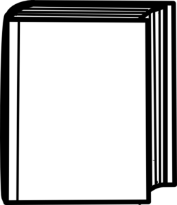 White Closed Book Clip Art