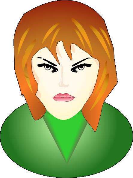 Angry Woman Clip Art at Clker.com - vector clip art online ...