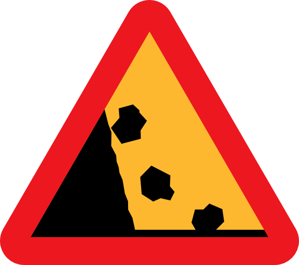 Falling Rocks From The Lhs Roadsign Clip Art at Clker.com ...