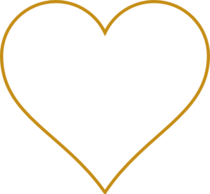 Open Gold Heart Clip Art
