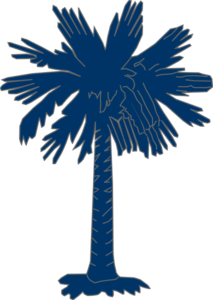 South Carolina Flag Palmetto With No Moon Clip Art
