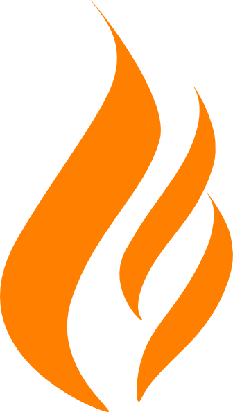Maron Flame Logo...K Logo In Fire