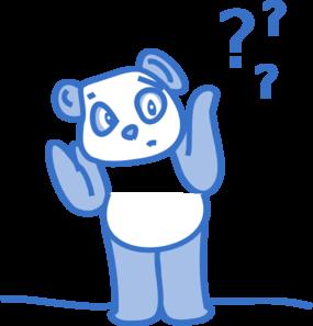 Confused Panda Clip Art