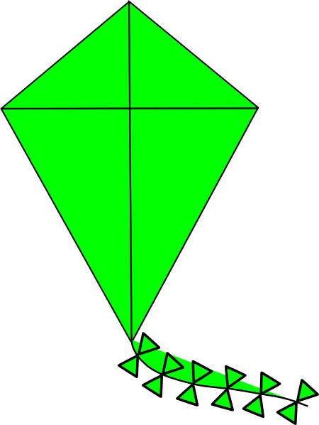 clipart kite flying - photo #9