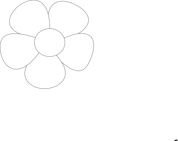 Clipart Simple Flower 11 on Clipart Flower Six Petals Black Outline