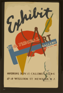 Exhibit - Wpa Federal Art Gallery, State Of New Jersey Opening Nov. 15, Calumet B L D G., 17-19 William St., Newark, N.j. Clip Art