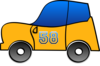 Funny Yellow Car Clip Art