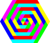 Hexagon Rainbow Colors Clip Art