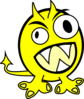 Yellow Monster Clip Art