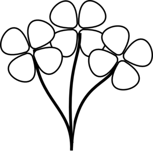 three white flowers clip art at clker com vector clip art online rh clker com black and white flower clip art free images black and white clip art flowers free