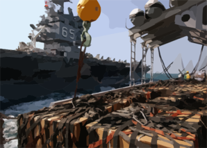 Equipment And Supplies Sit Staged Aboard The Fast Combat Support Ship Uss Detroit (aoe 4), In Preparation For Transfer To The Nuclear Powered Aircraft Carrier Uss Enterprise (cvn 65). Clip Art