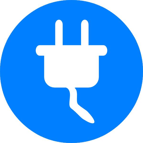 blue electricity symbol clip art at clker com vector clip art rh clker com electrical clip art images electrical clip art