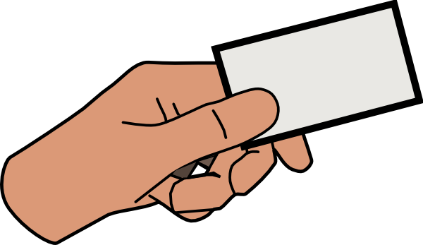 Simple Cartoon Hand Holding Card Clip Art at Clker.com ...