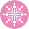 White Snowflake With Pink Background Clip Art