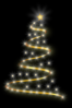 Modern Christmas Tree With Lights Clip Art
