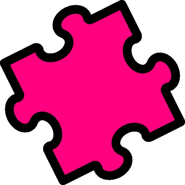 pink puzzle piece clip art at clker com vector clip art online rh clker com puzzle piece clip art for powerpoint puzzle pieces clip art free downloads