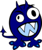 Blue Monster Clip Art