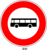 Red Bus Sign Clip Art