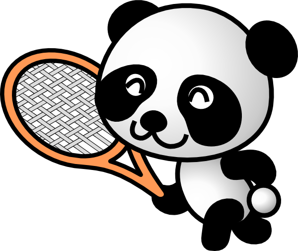 Tennis panda clip art