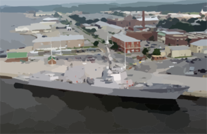 Pre-commissioning Unit Mustin (ddg-89) Is Berthed At The Allegheny Pier On Naval Air Station (nas) Pensacola.  The Guided Missile Destroyer Will Be Heading To San Diego, Where It Will Be Commissioned In July Clip Art