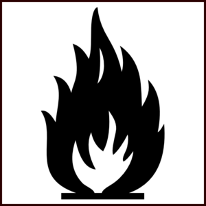 Bw Flammable Symbol Clip Art