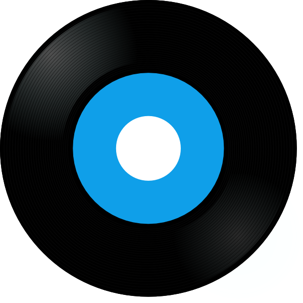 Records Clip Art Blue record clip art  vector