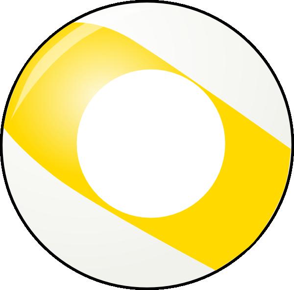 Yellow Stripe Billiard Ball Clip Art At Clker Com Vector
