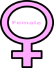 Pink Female Symbol Clip Art