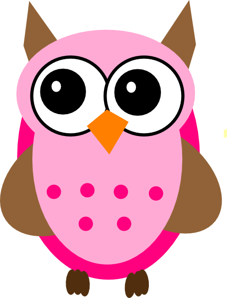 Pink Brown Owl Clip Art at Clker.com - vector clip art online, royalty ...