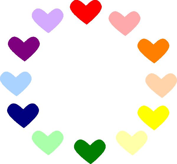 Heart Rainbow Clip Art at Clker.com - vector clip art ...