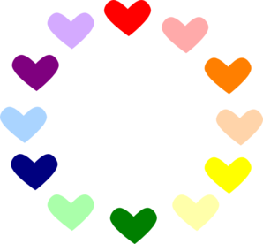 Heart Rainbow Clip Art