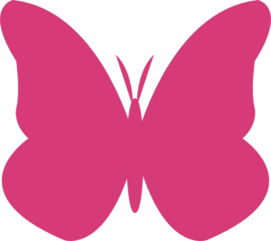 Bright Butterfly - Ls Clip Art