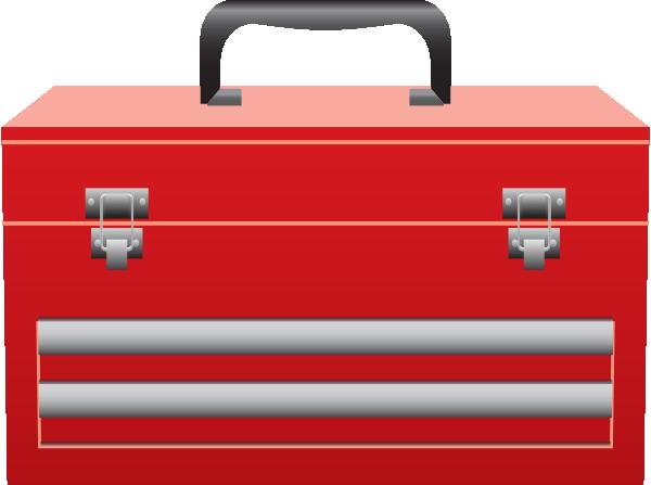 tool box medium red toolbox clip art at clkercom vector clip art online
