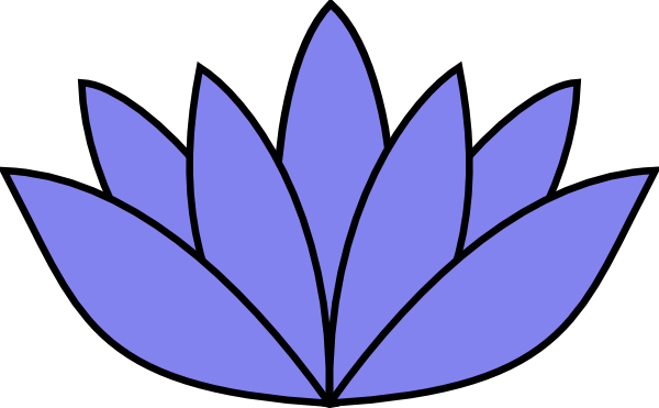 free blue lotus flower clip art - photo #17