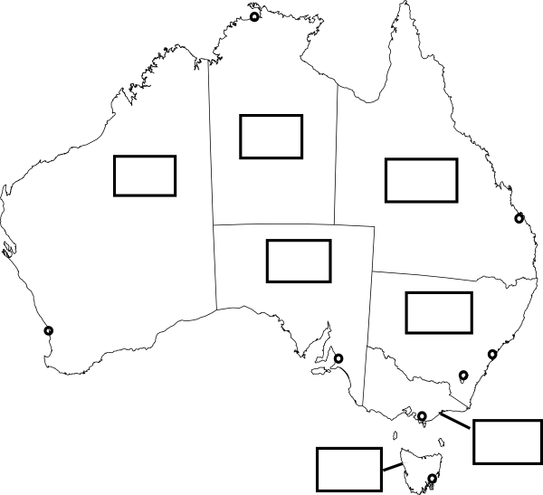 Australia Map With States And Capital Cities Clip Art at Clker – Australia Map with States and Capital Cities