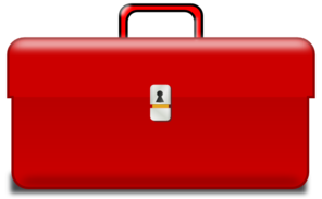 Toolbox, Red Handle Clip Art