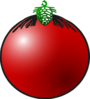 Red Bauble Clip Art