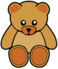 Brown Cute Teddy Bear Clip Art