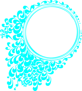 Aqua Circle Template Clip Art