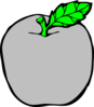 Silver Apple Clip Art