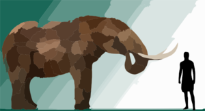 High Res Mastodon Rendering Clip Art