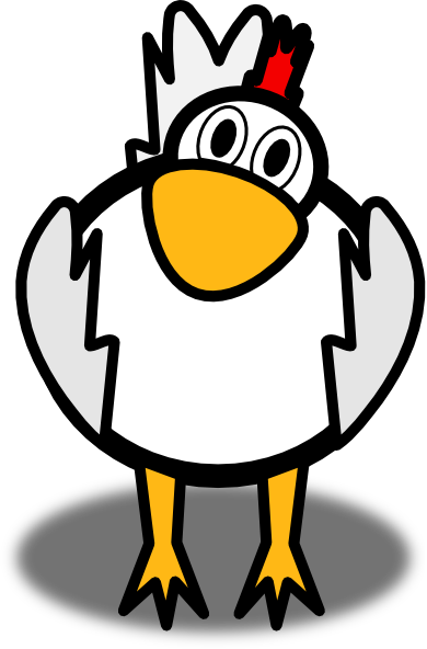 cartoon chicken clip art free - photo #1