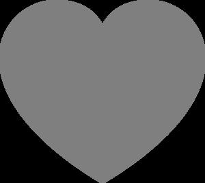 Gray Heart Clip Art