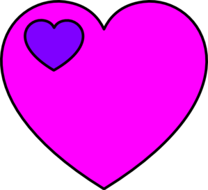 Pink And Violet Heart Clip Art
