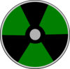 Darkgreen Atomic Warning Clip Art